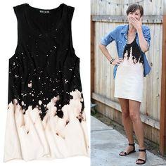 DIY Easy Beach Splattered Dress
