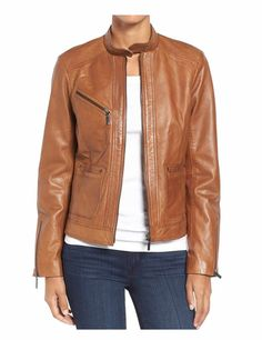 This is a #causal leather jacket for women and this is also a #biker'sjacket for women.
