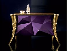 #PurpleandGold B120 Dresser Butterfly Collection by Rozzoni Mobili d'Arte design Statilio Ubiali