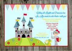 Knight Invitation, Knight Party, Princess and Knight Party, Knight Invite, Royal Party on Etsy, $10.00