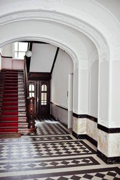 interiors. hall. hallway.