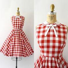 dress gingham galore vintage dresses, vintage outfits и Vintage 1950s Dresses, Vestidos Vintage, Vintage Outfits, 60s Dresses, Vintage Clothing, 1950s Fashion, Vintage Fashion, Club Fashion, Pretty Outfits