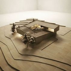 Loop House proposed for Indonesia by @ RaynaldoTheodore Sacred Architecture, Maquette Architecture, Architecture Design, Architecture Student, Landscape Architecture, Architecture Graphics, Arch Model, Design Model, Beautiful