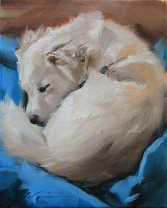 """The Daily Dog - Twenty Nine"" - Original Fine Art for Sale - © Clair Hartmann"