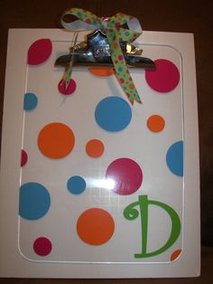 Personalized Acrylic Clipboard by PersonalizedParadise on Etsy, $15.00