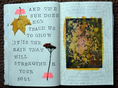 @laurenslovelist  | The rain will strengthen your soul | Season of Words | Get Messy Art Journal