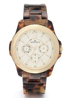 Anne Klein: Shop By Category > Color > Tortoise Plastic Multifunction Watch - Tortoise Multifunction Watch ($50-100) - Svpply