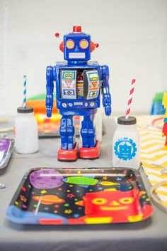 Robot birthday parties are a theme of the future!