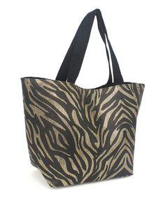 loving this black zebra tote on zulily zulilyfinds zebra print mother day