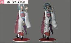 3d anime kimono girl figure