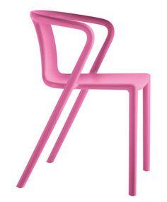 Fauteuil empilable Air-Armchair / Polypropylène Fuchsia - Magis - Décoration et mobilier design avec Made in Design