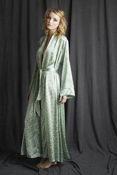 Full length silk dressing gown Long Gown Dress d093ad11c