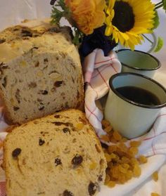 I found a great recipe for Sweet Raisin nut bread