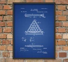 Pool Ball Frame Snooker Patent Wall Art Poster by QuantumPrints