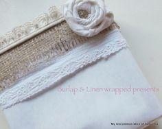 burlap wrapped presents (3)