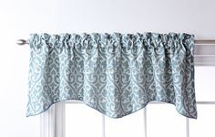 Stylemaster Twill and Birch Bryce Chenille Scalloped Valance with Cording, 55 by Pewter - home products purses warm coat Valance Window Treatments, Window Coverings, Window Valances, Rooster Kitchen, Kitchen Valances, Grey Kitchen Curtains, Pewter Color, Indian Home Decor, Houses
