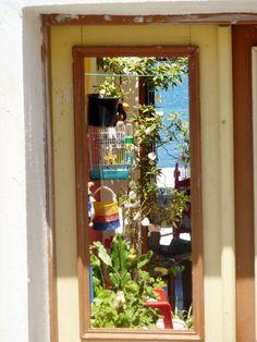 through the door. Parthenon, Acropolis, Mykonos, Santorini, Black Sand, In Ancient Times, Photo Diary, Athens, Ladder Decor