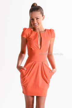 carrie cocktail dress - coral - Esther clothing Australia and America USA, boutique online ladies fashion store, shop global womens wear worldwide, designer womenswear, prom dresses, skirts, jackets, leggings, tights, leather shoes, accessories, free shipping world wide. – Esther Boutique