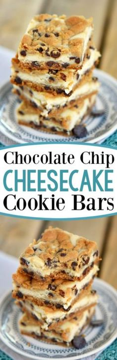 Chocolate Chip Cheesecake Cookie Bars made with just four ingredients! This easy dessert recipe will satisfy all your cravings! Chocolate Chip Cheesecake Cookie Bars made with just four ingredients! This easy dessert recipe will satisfy all your cravings! Baking Recipes, Cookie Recipes, Dessert Recipes, Dessert Bars, Bar Recipes, Cheesecake Cookies, Chocolate Cheesecake, Cheesecake Squares, Keto Cheesecake