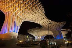 Metropol Parasol is a wooden building in the old quarter of Seville