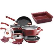 Paula Deen 12-piece Porcelain Enamel Cookware Set with Bonus Baking Dish, Assorted Colors