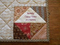 Cardan Antiques and Needlework: Christmas in February---quilt label