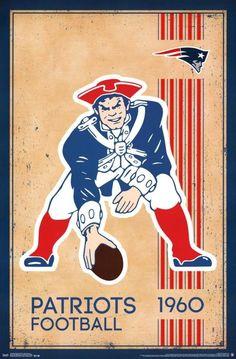 New England Patriots Vintage Logo 22x34 Football Poster