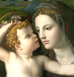 Agnolo di Cosimo (Il Bronzino): Madonna and Child with Saints (ca. 1540, detail):