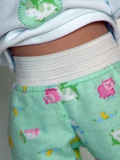 1'' exposed elastic for waistband