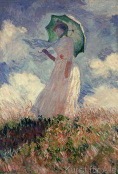 Claude Monet - Femme à l'ombrelle tournée vers la gauche