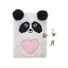 Love Panda Lock Diary, all, School Supplies, Stationery, Notebooks,... ($11) ❤ liked on Polyvore featuring home, home decor and stationery
