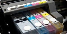Photo about Close-up shot of a CMYK ink cartridges for a color printer. Image of electronics, black, inks - 867565 Printer Ink Cartridges, Inkjet Printer, Things You Can Recycle, Cheap Printer Ink, Tinta Epson, Recycling Information, Unusual Facts, Weird Facts, Bic Pens