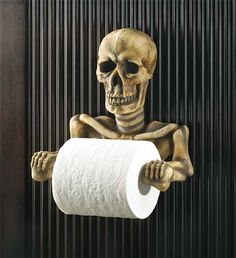 Toilet paper holder...would actually want one with paper in the mouth... bug this reminds me if the idea