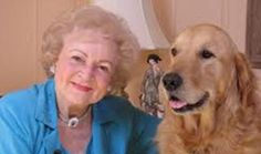 Because who can't smile when they see Betty White with a Golden Retriever?