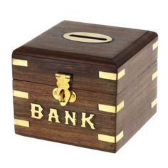 Safe Money Box Wooden Piggy Bank For Boys S And