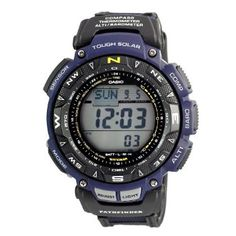 Casio Mens PAG240B-2CR Pathfinder Triple Sensor Multi-Function Sport Watch