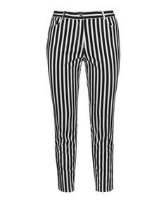 Striped straight cut jeans by Samoon. Shop now: http://www.navabi.nl/jeans-samoon-striped-straight-cut-jeans-white-black-30567-2824.html?utm_source=pinterest&utm_medium=social-media&utm_campaign=pin-it