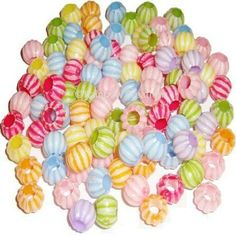 Rainbow Creations Childrens Candy Stripe Beads