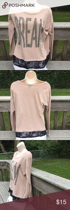 """HP Best In Tops 👚👚 Bought at Nordstrom. 62% rayon 38%  polyester and the lace is 100% nylon  length is 24""""  under the arms across laying flat is 19"""" bobeau Tops"""
