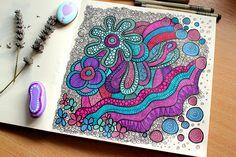 floral and sea life doodles on Sketchbook -Flickr: Intercambio de fotos