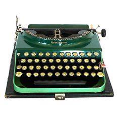 Art Deco 1927 Green Remington Typewriter