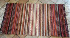 Kiikkalainen punaruskea Rya Rug, Tear, Recycled Fabric, Woven Rug, Weaving, Rugs, Carpets, Creative, Rug Weaves