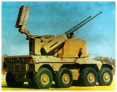 "bmashina: "" South African self-propelled anti-aircraft installation Rooikat ZA…"