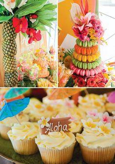 hawaiian dessert table pineapple tree & other ideas