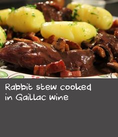 Rabbit stew cooked in Gaillac wine | Stage 11, Blaye-Les-Mines - Lavaur: Gabriel explores the region around Albi, one of the most scenic areas of this year's Tour. He seeks out some traditional local foods and the full-bodied wine of Gaillac, and we meet a local winemaker. In the kitchen Gabriel uses the local wine in this recipe to make a superb wild rabbit stew known as civet de lapin au vin de Gaillac. This dish is delicious served with boiled potatoes.