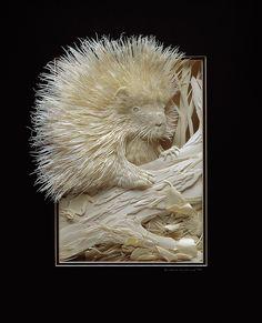 Calvin Nicholls, Canadian Paper Sculpture Artist Is A Master Of Paper Art 3d Paper Art, Paper Artwork, Paper Artist, Paper Paper, Paper Crafts, Animal Sculptures, Sculpture Art, Paper Sculptures, Papercut Art