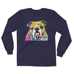 English Bulldog Art - Long Sleeve T-Shirt