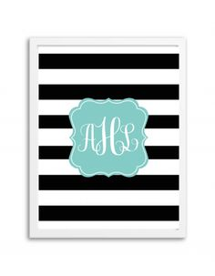 free-printable-monogram-maker-stripes-black-aqua-2