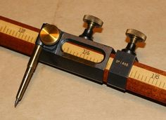 Houghton-Butcher Beam Compass Set - Right beam head Drafting Tools, Wood Joinery, Mechanic Tools, Garage Tools, Old Tools, Machine Tools, Tool Storage, Lathe, Tool Design