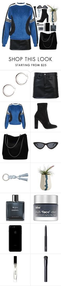 """blue class"" by s-ensible on Polyvore featuring mode, Junya Watanabe Comme des Garçons, Louis Vuitton, Steve Madden, Gucci, Le Specs, Zimmermann, BTW Ceramics, Chanel en Bliss"
